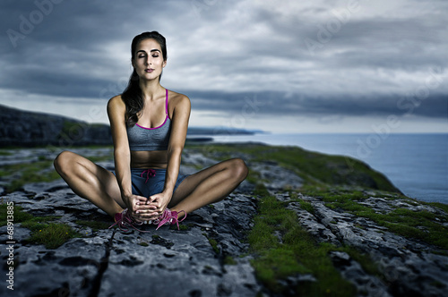 canvas print picture Relaxed Woman