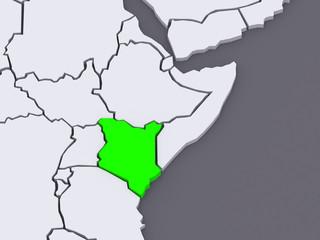 Map of worlds. Kenya.