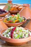 Salades orientiales en Tajine