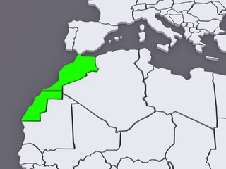 Map of worlds. Morocco.