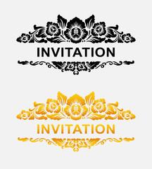 Invitation floral ornament decoration element