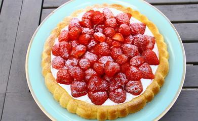 biscuit moelleux aux fraises