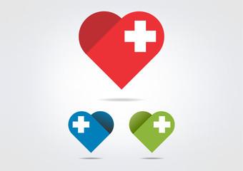 cross medicine heart logo