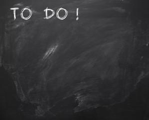 To do Liste Kreidetafel © Matthias Buehner