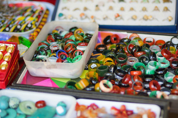 Rings for sale in Chinatown of Singapore