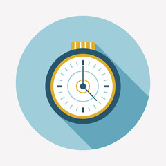 watch flat icon with long shadow