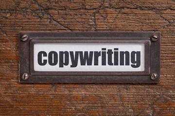 copywriting - file cabinet label
