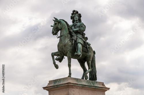 Leinwanddruck Bild Der Sonnenkönig, Ludwig XIV im Schloss Versailles