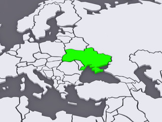 Map of worlds. Ukraine.