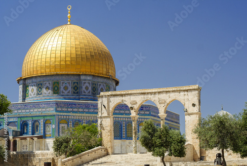 Zdjęcia na płótnie, fototapety, obrazy : Dome of the rock (Women's mosque) - holy place for Muslims