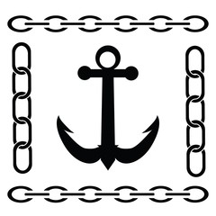 silhouette of anchor
