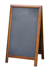 standing menu blackboard isolated with clipping path included
