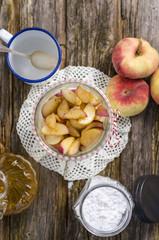 Pfirsich-Dessert mit Joghurt