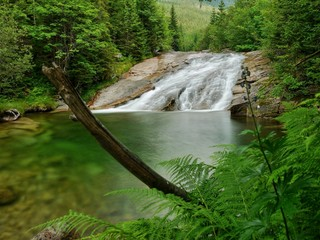 Waterfalls Lake Emerald Forest Landscape