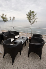 Open air terrace bar