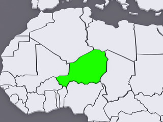 Map of worlds. Niger.