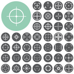 Set of highly detailed crosshairs. Illustration eps10