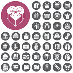 vector gift box icons set. Illustration eps10