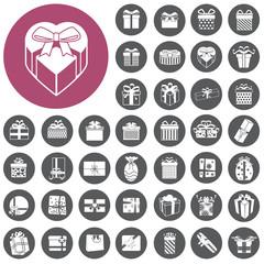 vector gift box icons set. Illustration eps10