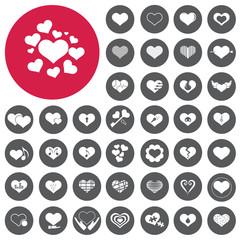 Hearts icons set. Love sign. Illustration eps10