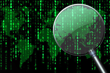 Data matrix and magnifier