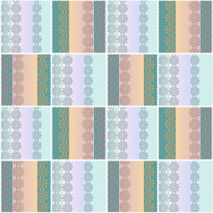 Abstract patchwork ornament seamless pattern