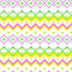 Pixel modern geometric seamless pattern ornament