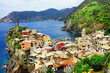 scenic Ligurian coast of Italy - Vernazza village, Cinque terre