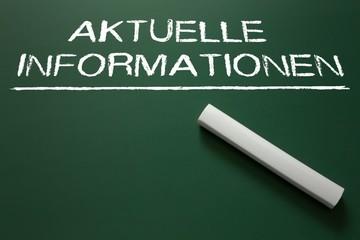 Aktuelle Informationen - Platz für eigenen Text auf Kreidetafel