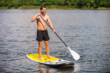 Relaxing on paddleboard.
