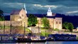 Akershus Fortress at night, Oslo, Norway, Time lapse