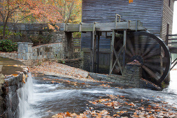 Grist mill and stream