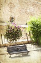 Bench bear the fortress of Palma de Mallorca