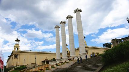 Columnas ornamentales en Montjuic, Barcelona