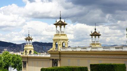 Pináculos del palacio de Alfonso XIII y Victoria Eugenia