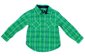 Children's plaid shirt