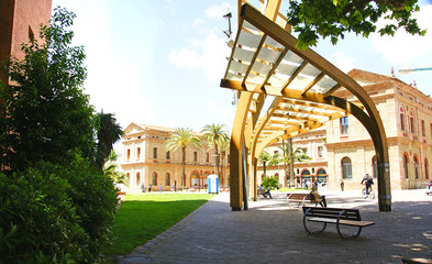 Escultura en el Parque de Nou Barris, barcelona