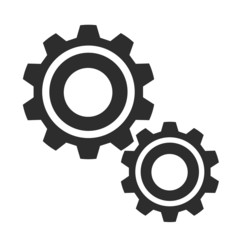 Vector Gears Black Icon