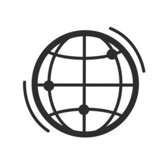 Vector Globe Earth Black Icon