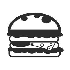 Vector Sandwich Black Icon
