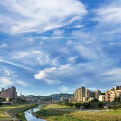 City scenery of park
