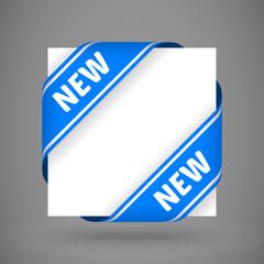 vector blue new corner ribbons
