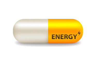 vector pill of energy