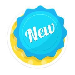 Vector New Badge Flat Icon