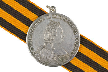 "Medal ""For  bravery "". Catherine II"
