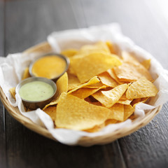 mexican corn tortilla chips with jalapeno and chipotle mayo