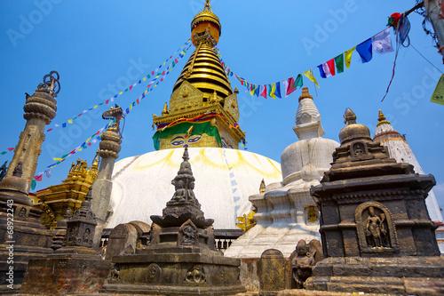 Leinwandbild Motiv Swayambhunath temple in Kathmandu, Nepal