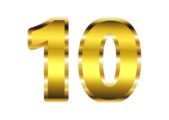 10 dourado