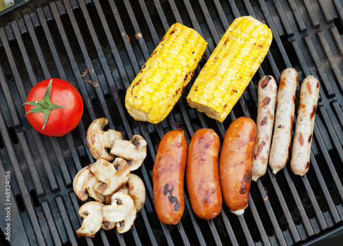 canvas print picture Grill bbq party