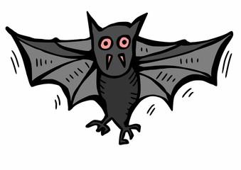 doodle flying bat